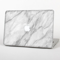 The White Marble Surface Skin for the Apple MacBook Air- Pro or Pro with Retina Display (Choose Version)