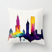 Chicago  Throw Pillow by Talula Christian