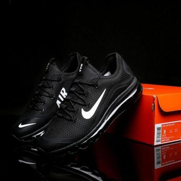 Cheapest Nike Air Max 2017 Black And White Men's Footwear Running Shoes Sneakers