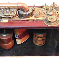 Steampunk Hanging Wall Shelf