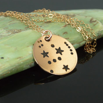 14k Rose Gold Filled Orion Necklace, Orion Necklace, Rose Gold, Constellation, Orion Jewelry, Star Pendant, Rose Gold Pendant, Star Necklace