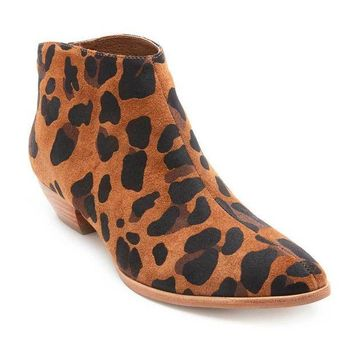 MDIGYW3 Coconuts by Matisse Aida Leopard Suede Ankle Booties