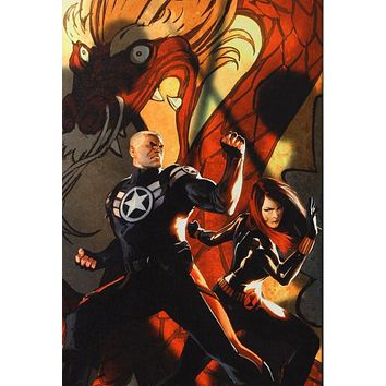 Secret Avengers #6 - Limited Edition Giclee on Stretched Canvas by Marko Djurdjevic and Marvel Comics