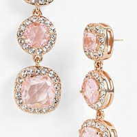 kate spade new york 'basket pave' linear earrings