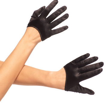 Mini Capped Satin Gloves