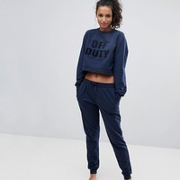 ASOS LOUNGE Off Duty Sweat and Jogger Set at asos.com