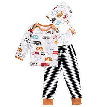 Baby Boy Camping Clothing Set Leggings and Hat Retro