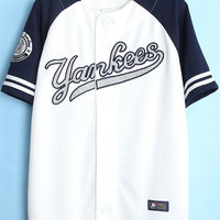 Dark Blue Yankees Jacket