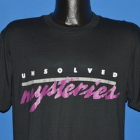 80s Unsolved Mysteries t-shirt Large