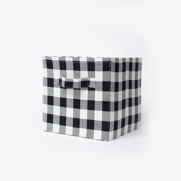 Buffalo Plaid Square Storage Bin