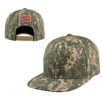 Licensed Digi Camo Official Adjustable Patriot Snap Hat Cap Flat Bill by Top of the World KO_19_1