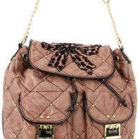 Betsey Johnson BH68115 Backpack,Taupe,One Size