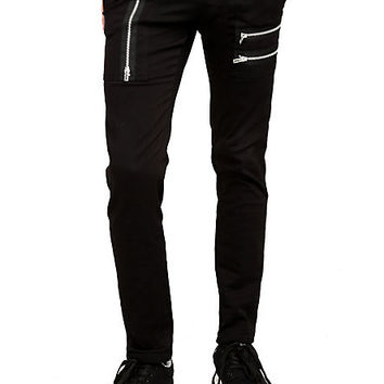 Royal Bones Black Zipper Skinny Pants | Hot Topic