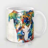 Colorful Great Dane Art Dog By Sharon Cummings Mug by Sharon Cummings