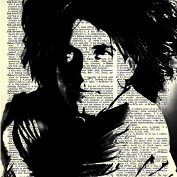 Robert Smith of The Cure  Print on Vintage by NumberEleven on Etsy