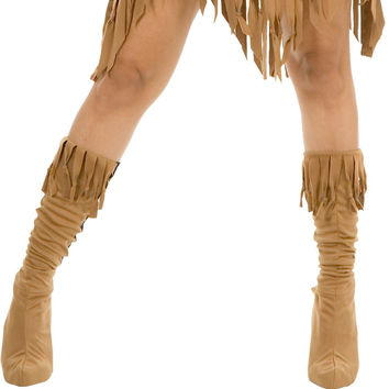 indian maiden suede adult boot covers - medium/large (7-10)