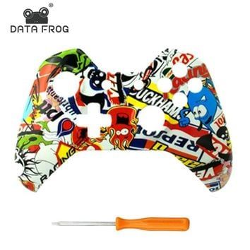 Xbox one front housing shell cover skin special personality design upper case replacement parts For Xbox one Controller 8 color