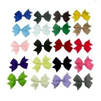 "FIODAY 20pc 3"" Boutique Windmill Style Hair Bows Girls Baby Alligator Clip Grosgrain Ribbon Headbands"