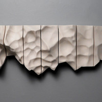 Porcelain wall sculpture