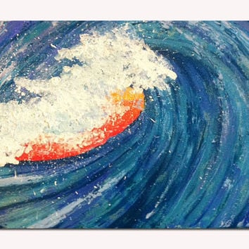 Ocean painting - Beach Decor - Waves - Seascape - Art Print