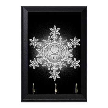 Mushroom Snowflake Decorative Wall Plaque Key Holder Hanger