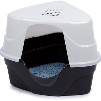 Nature's Miracle Advanced Corner Hooded Cat Litter Box | Petco