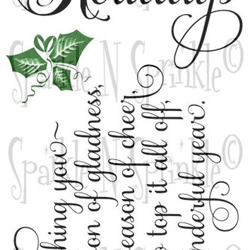 Happy Holidays Rubber Stamp Set [00-897P8]