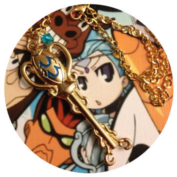 Fairy Tail Lucy's Key Aquarius Necklace