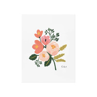 Rosy Botanical Art Print