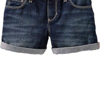 Girls Roll-Cuff Denim Shorts