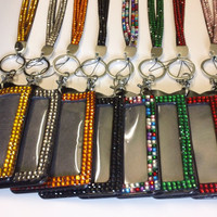 11 Colors Rhinestone Crystal Bling Neck LANYARDs Key Holder & ID Badge Holder