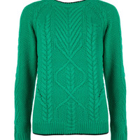 Cable knit sweater - Green | Sweaters | Ted Baker