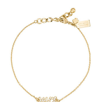 Kate Spade Say Yes Pave Mrs Bracelet Clear ONE