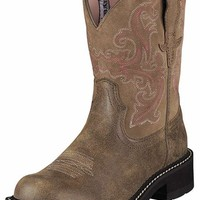 Ariat Women's Fatbaby Cowboy Boots (Brown Bomber)