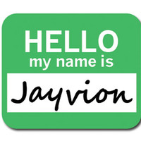 Jayvion Hello My Name Is Mouse Pad