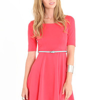 Being Flirty Dress In Coral - $40.00 : ThreadSence.com, Your Spot For Indie Clothing & Indie Urban Culture
