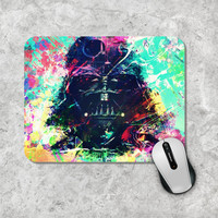 Star Wars Mousepad, Darth Vader Mouse Pad, Watercolor Mouse Mat, StarWars, Personalized, Custom