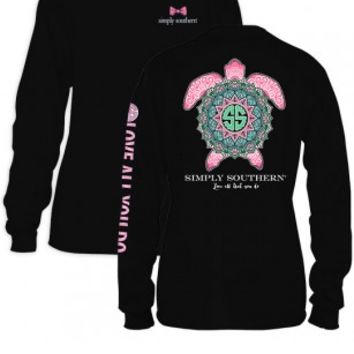 "Simply Southern ""Love All That You Do"" Long Sleeve- Black"