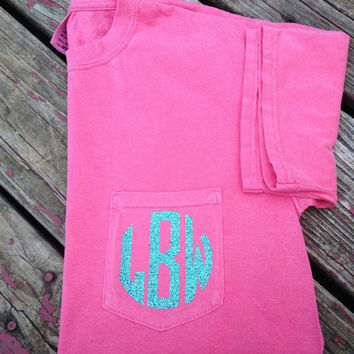 Comfort Colors Monogrammed Pocket T-Shirt