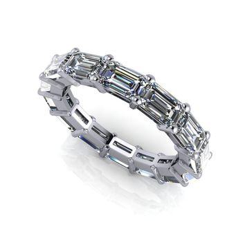 Eternity Band Emerald Cut - Celestial Premier Colorless Moissanite 4.20 CTW
