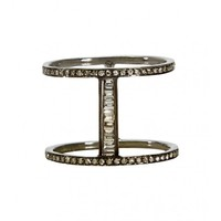 Shay Jewelry - Black Gold Bar Ring | Just One Eye