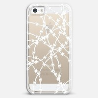 Trapped White Transparent iPhone 5s case by Project M | Casetify