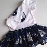 Cowboys Skirted Onesuit Dress, Dallas Cowboy Baby Dress, Dallas Baby Dress, Cowboy Onesuit, Dallas Cowboy dress