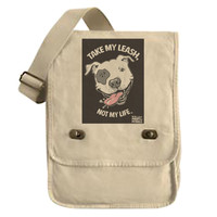 Canvas Messenger Bag - Pinups for Pitbulls