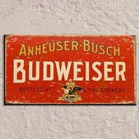 Budweiser Vintage Tin Sign