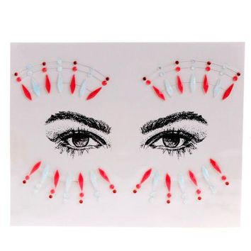 ac DCCKO2Q ZL06 Fashion Acrylic Resin Rhinestone Body Art Sticker Handpicked Bohemia And Tribal Style Face And Eye Jewels Forehead Decor