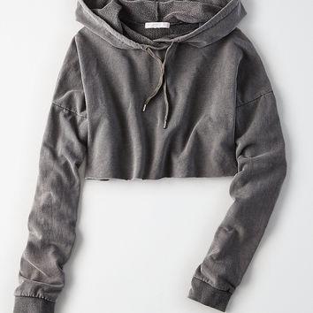 Don't Ask Why Cropped Hoodie, Black