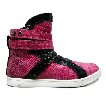 Pink Anaconda Hightop Bodybuilding Sneaker