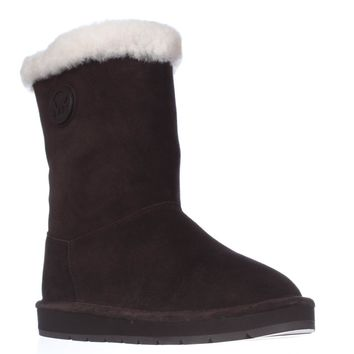 MICHAEL Michael Kors Winter Mid Boots, Coffee, 8 US