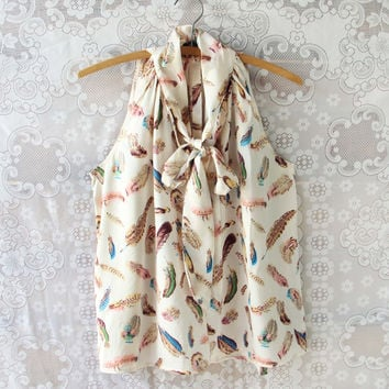 Falling Feathers Top